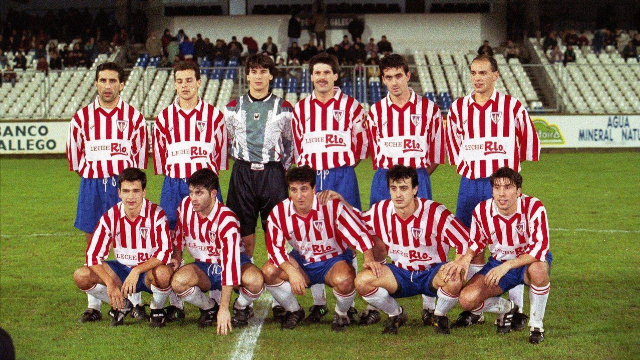 Alineación del CD Lugo en enero de 1995