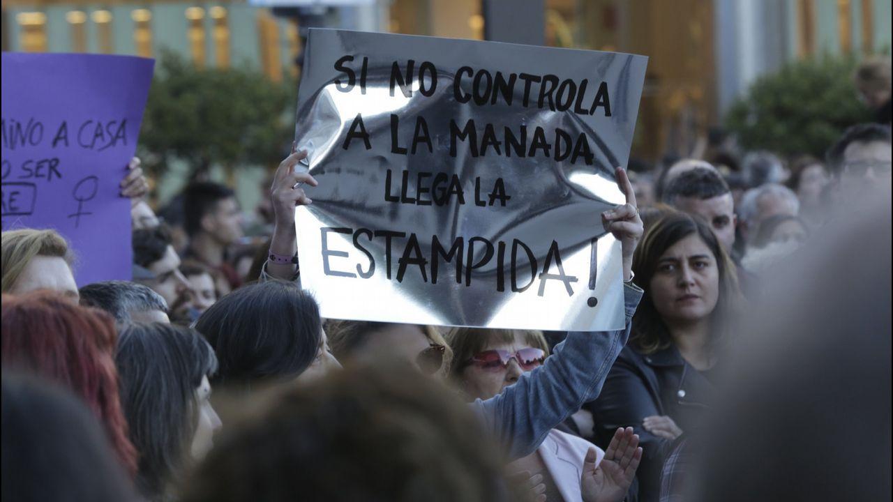 La respuesta en las calles al auto de libertad de La Manada.Martín Bouzas