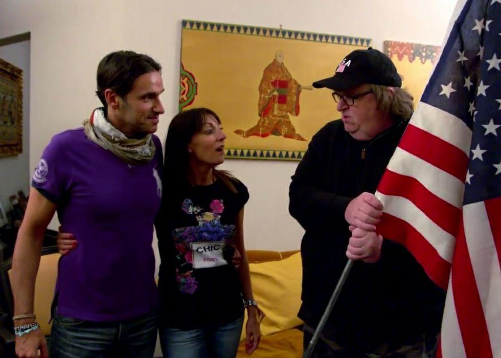 .Juan Muñiz, durante la charla sobre el documental.