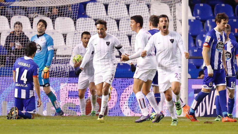 El Deportivo-Málaga, en fotos