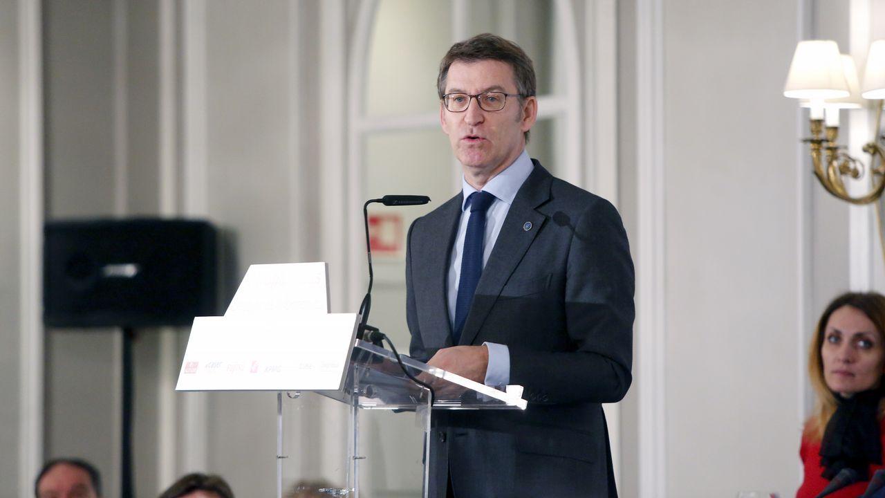 Feijoo da un nuevo paso en Madrid como hombre fuerte del PP.