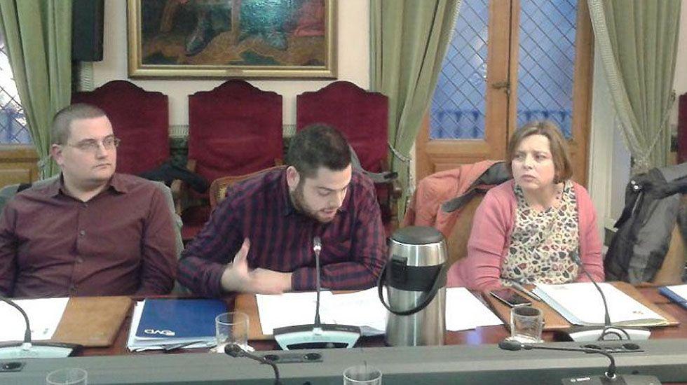 El diputado del PP, David González Medina..El concejal de Economía de Oviedo, Rubén Rosón