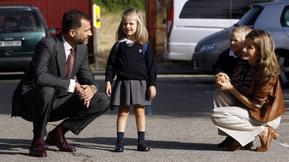 .En su primer día de colegio en el 2010.