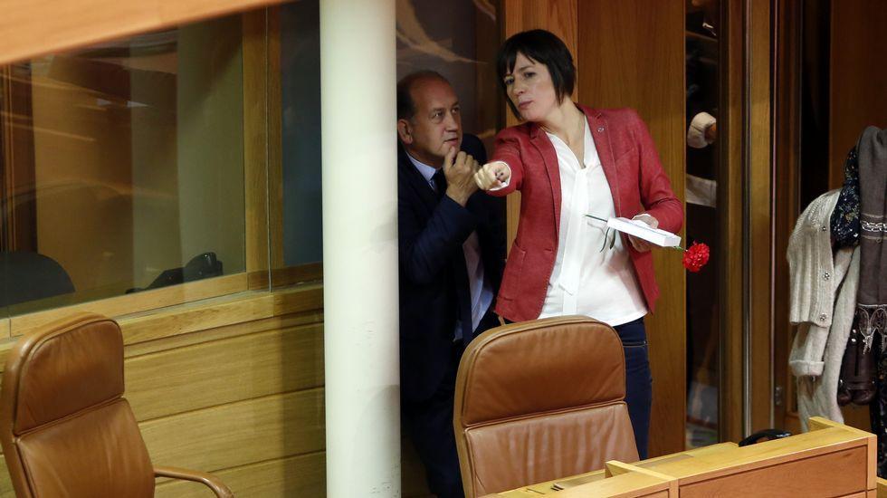 Leiceaga y Ana Pontón, en un aparte
