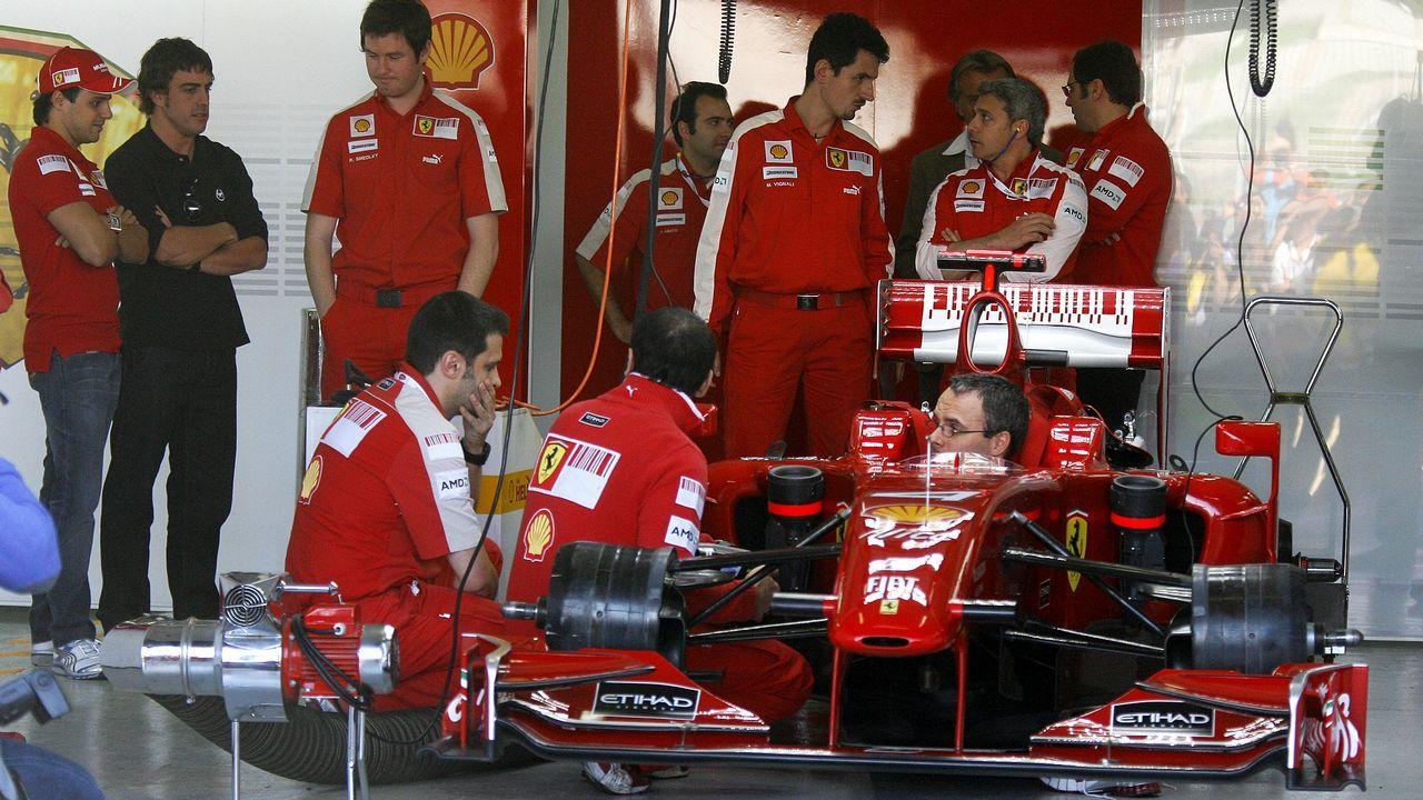 .Alonso ya con la escudería Ferrari