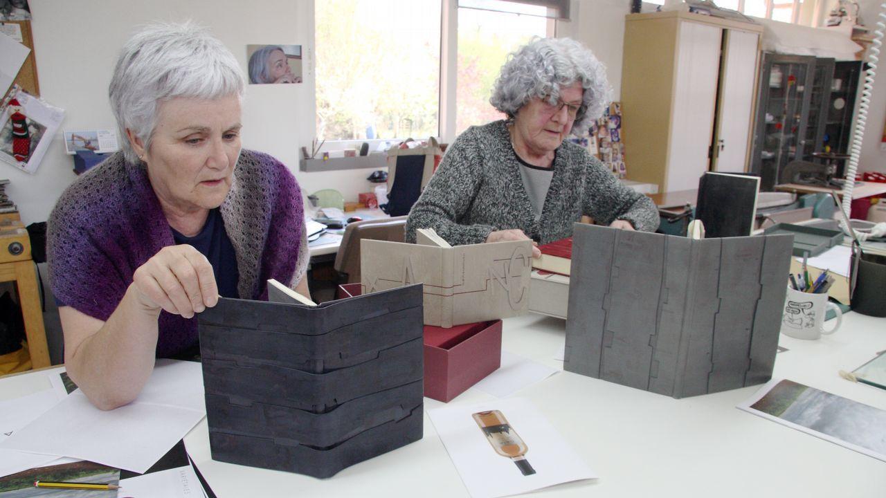 .Maica y Rosa empezaron a trabajar en el ámbito de la encuadernación en 1987