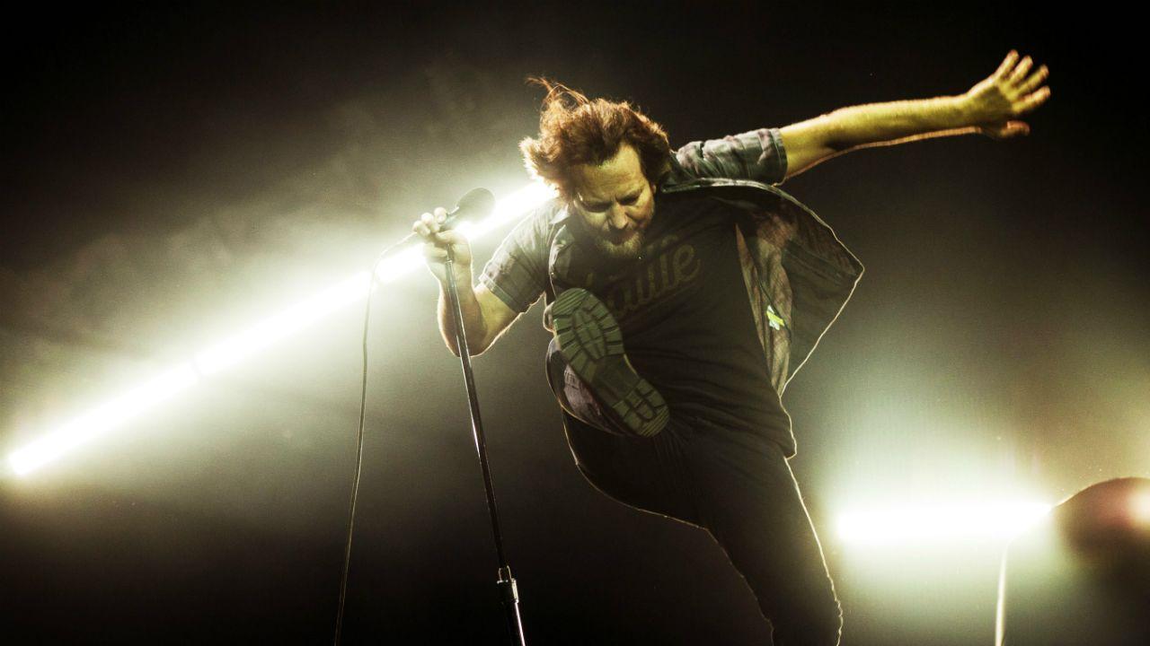 .Eddie Vedder, vocalista de Pearl Jam, durante concierto en Rock Werchter 2018, en Bélgica
