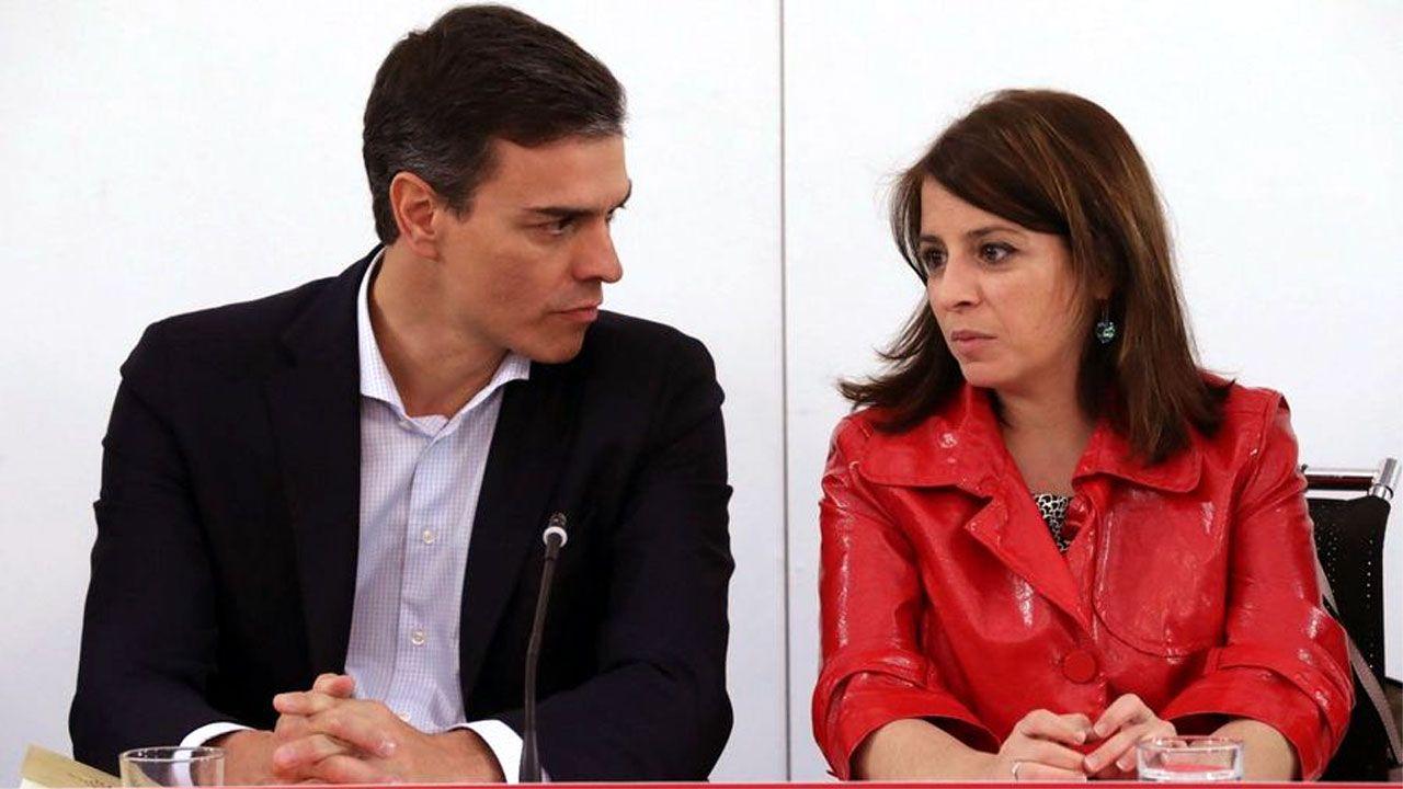 La autopista del Huerna.Pedro Sánchez y Adriana Lastra