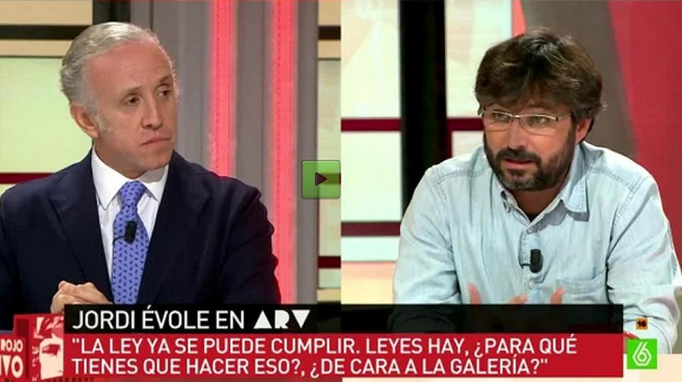 Encontronazo entre Jordi Évole y Eduardo Inda.