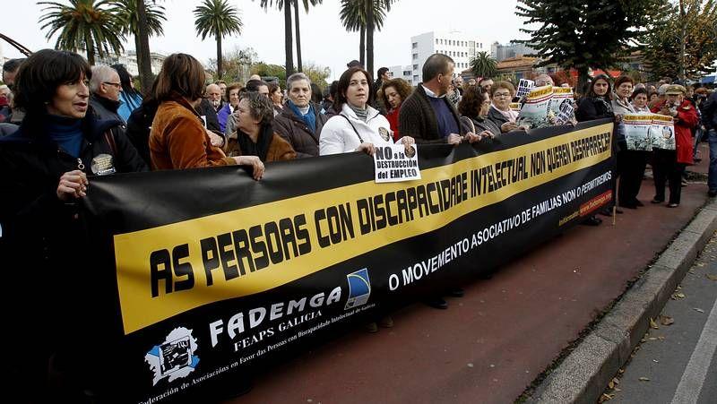 Concentración de Fademga en A Coruña.