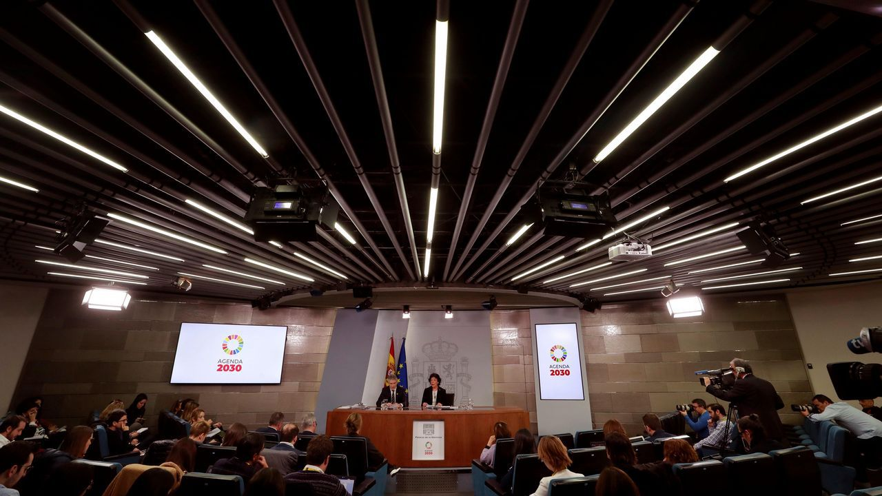 Laobras del Parador de Muxía en fotos.Rueda de prensa, hoy en La Moncloa, posterior al Consejo de Ministros