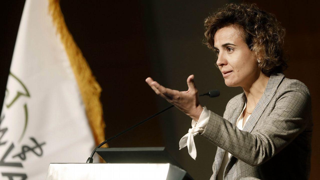 .La ministra de Sanidad durante la inauguración del Congreso Mundial de Veterinaria, en Barcelona