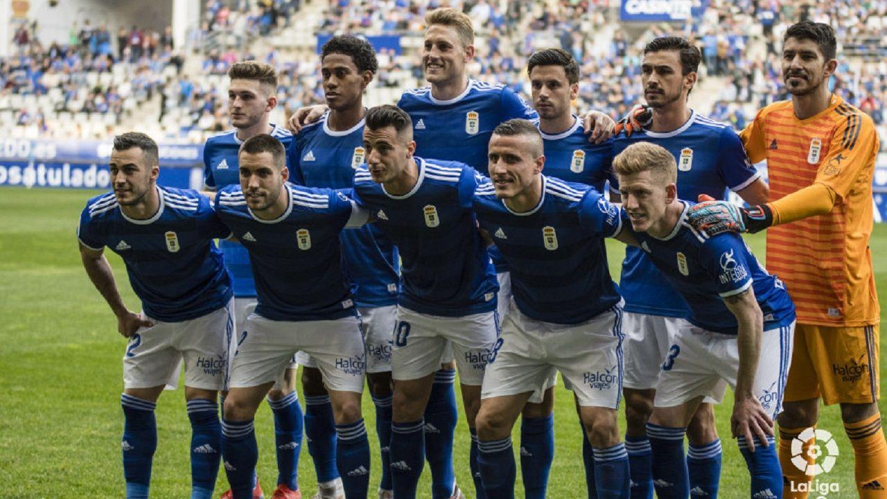 Tejera Real Oviedo Lugo Carlos Tartiere.Alineación del Oviedo ante el Lugo