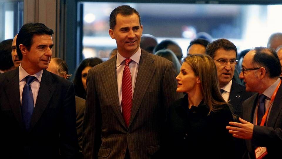 Los príncipes de Asturias, en Fitur.Los príncipes visitaron las instalaciones dedicadas a Galicia junto al presidente Feijoo.