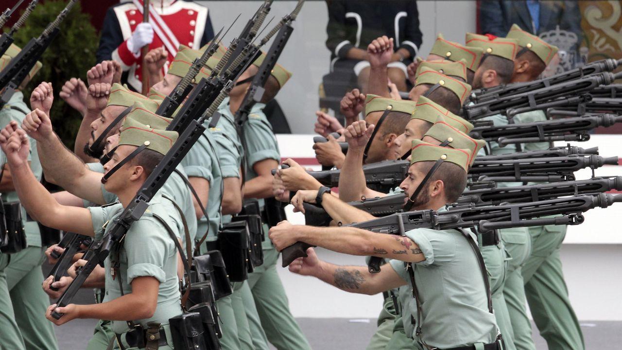 Los cánticos machistas de la Legión.Una vista general de Oviedo