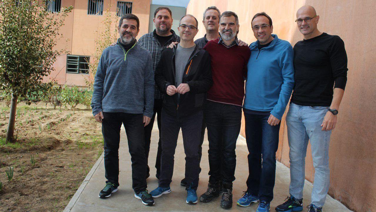Los siete políticos presos en Lledoners, entre ellos, el exvicepresidente Junqueras