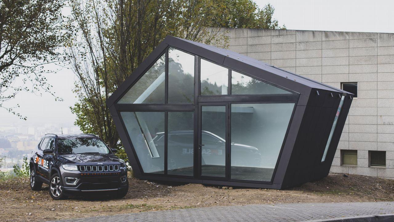 En la imagen, el edificio experimental de medición energética fabricado por Emsable en colaboración con la UDC