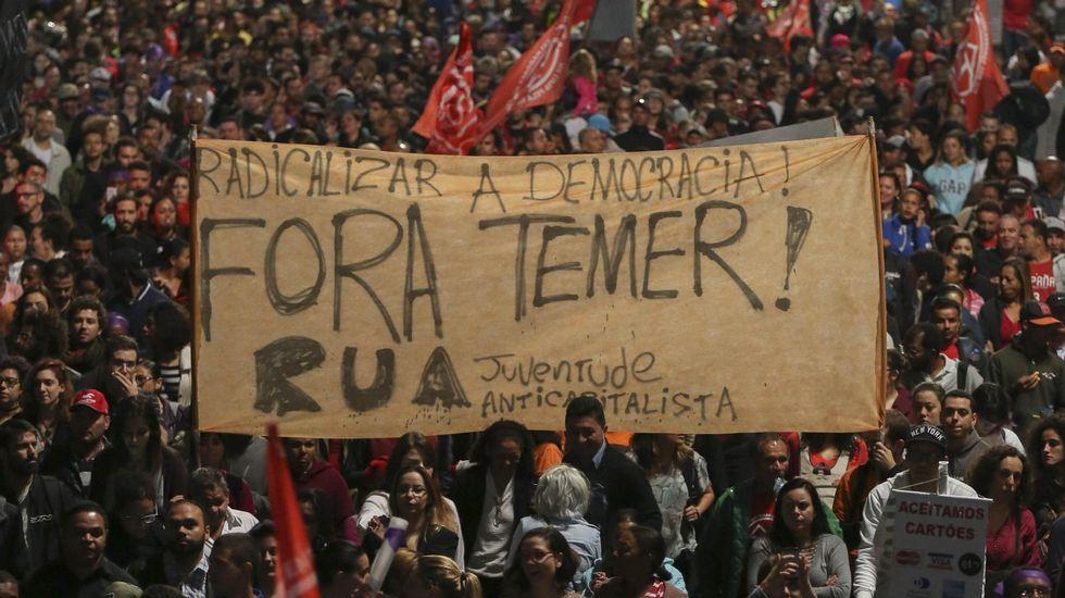 Protestas contra el nuevo presidente en São Paulo