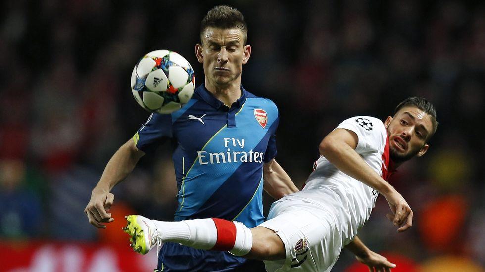 El Arsenal se quedó a un gol de eliminar al Mónaco y cayó en octavos.