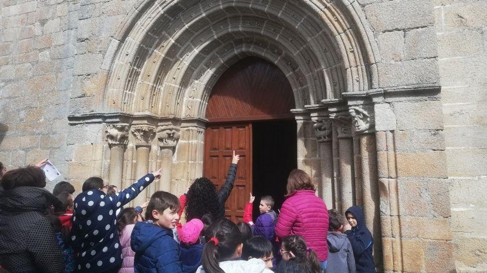 La huerta que aspira a ser patrimonio de la humanidad.A excursión incluíu paradas en tres igrexas románicas