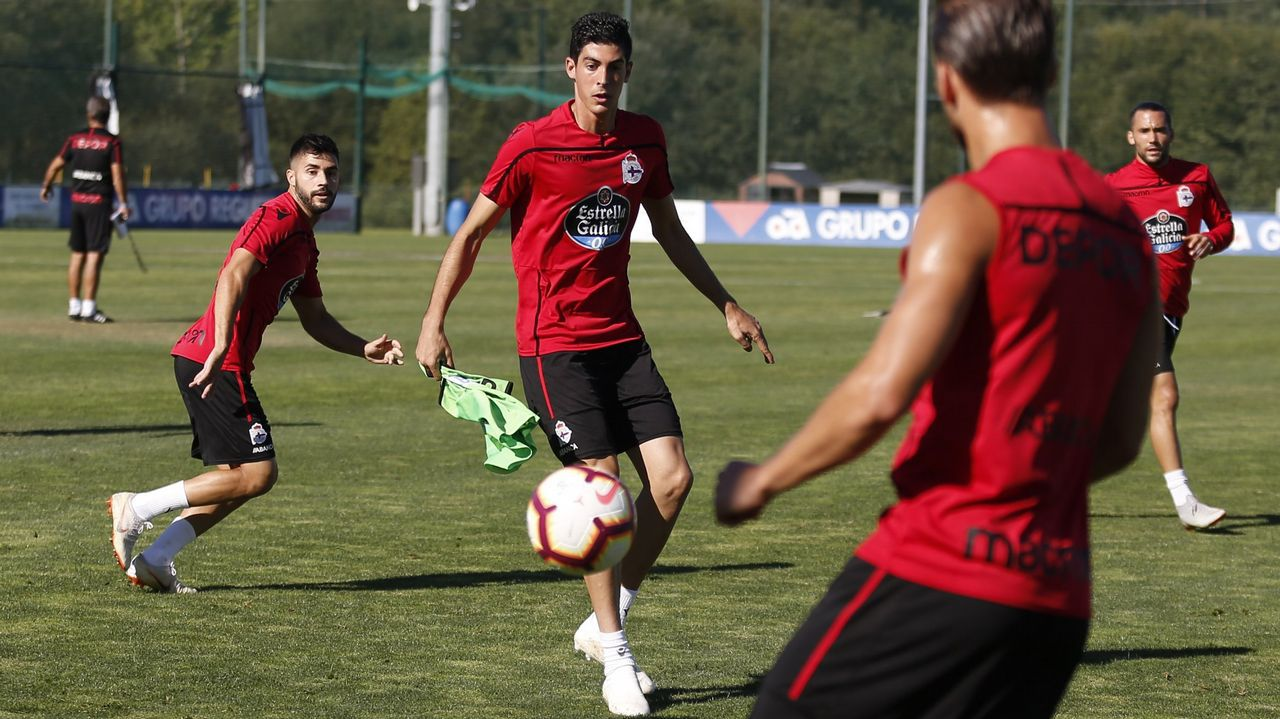 Imagen del Dépor-Reus disputado en octubre en Riazor y que acabó con triunfo coruñés por 2-0