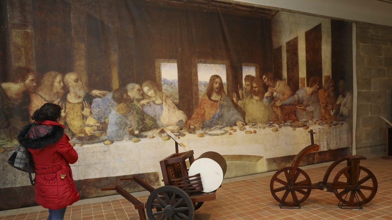 Exposición de Leonardo Da Vinci en Santiago.Imagen de archivo del Chicle en el juzgado de Ribeira