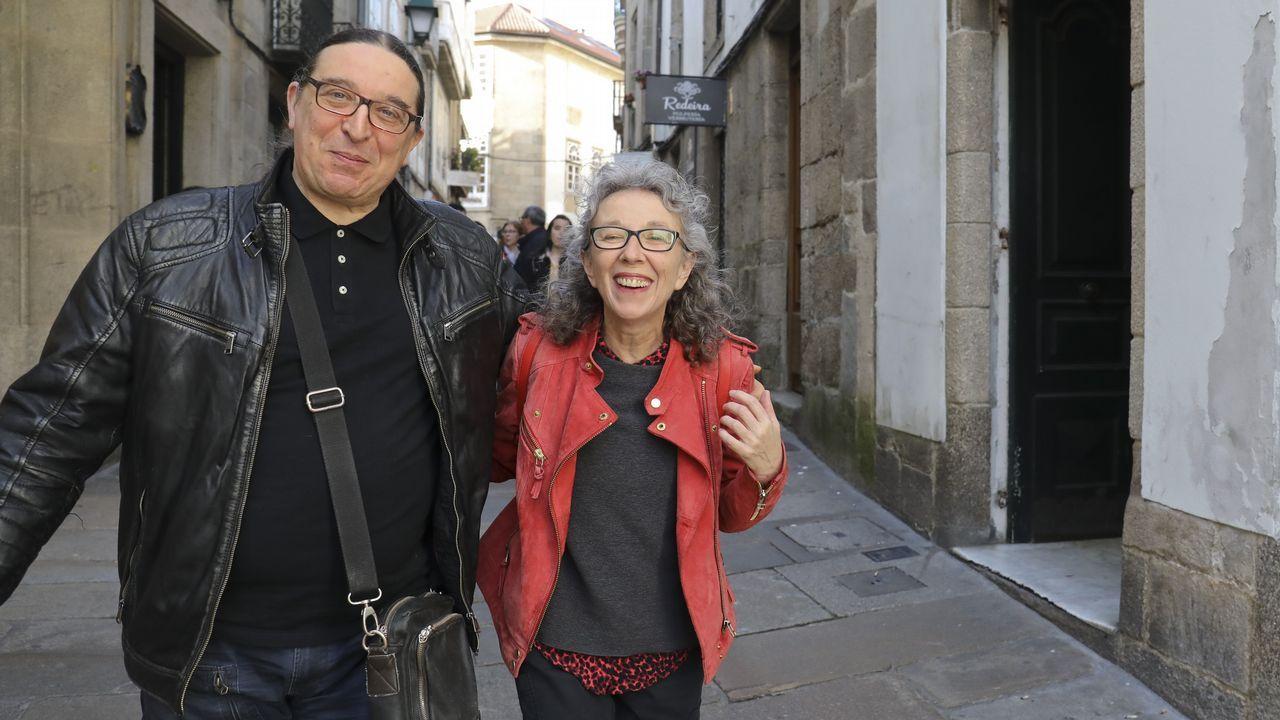Desembarco de cruceristas en A Coruña.Ana Valles fundó en 1986 junto a Baltasar Patiño la compañía Matarile Teatro en Santiago