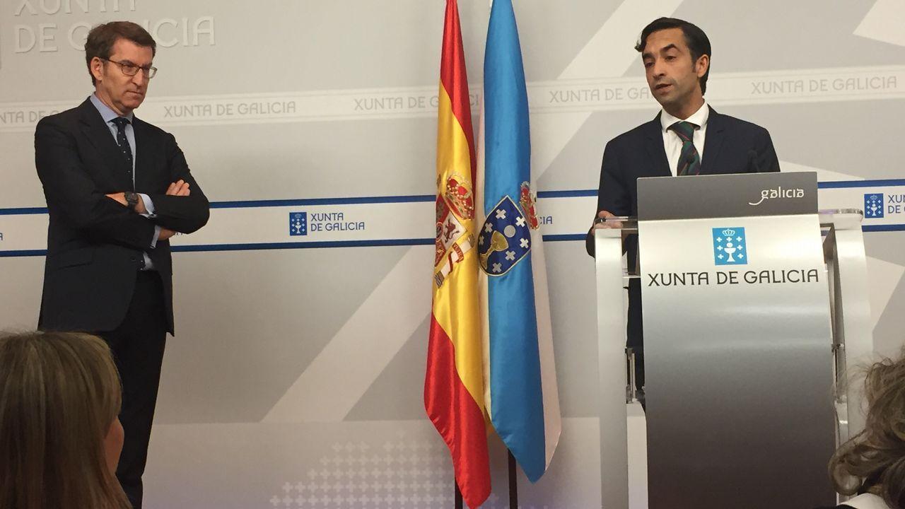 Luís Villares sobre la consulta de Quinteiro: «As bases nunca se equivocan».Firma del acuerdo que pone fin a la huelga