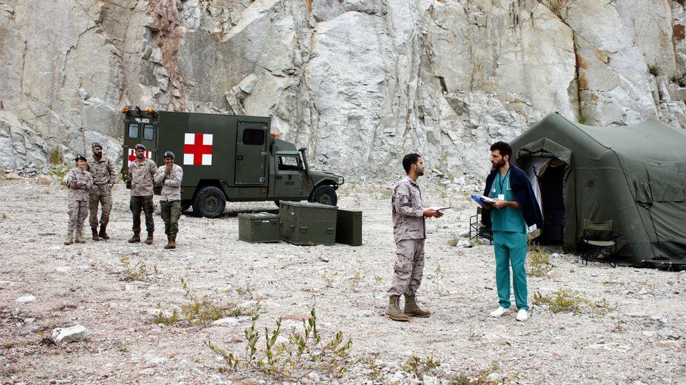 Grabación de serie sobre Afganistán en el polígono de Morás