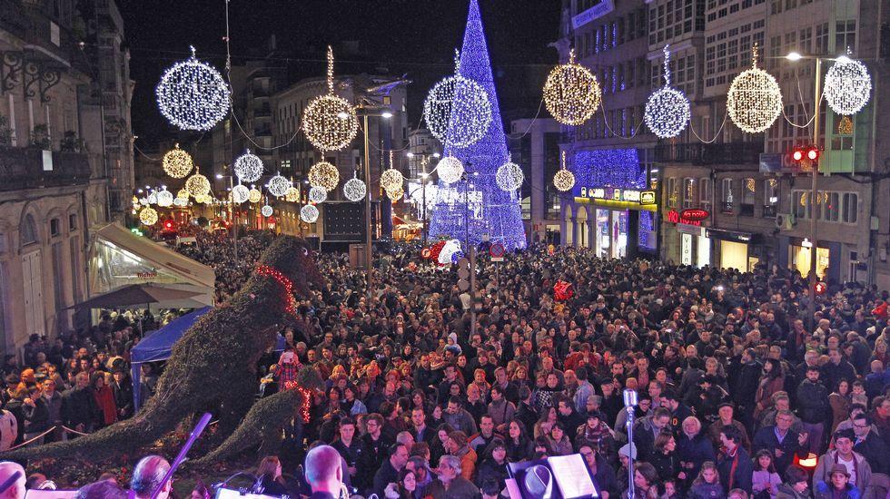 Alumbrado navideño en Vigo