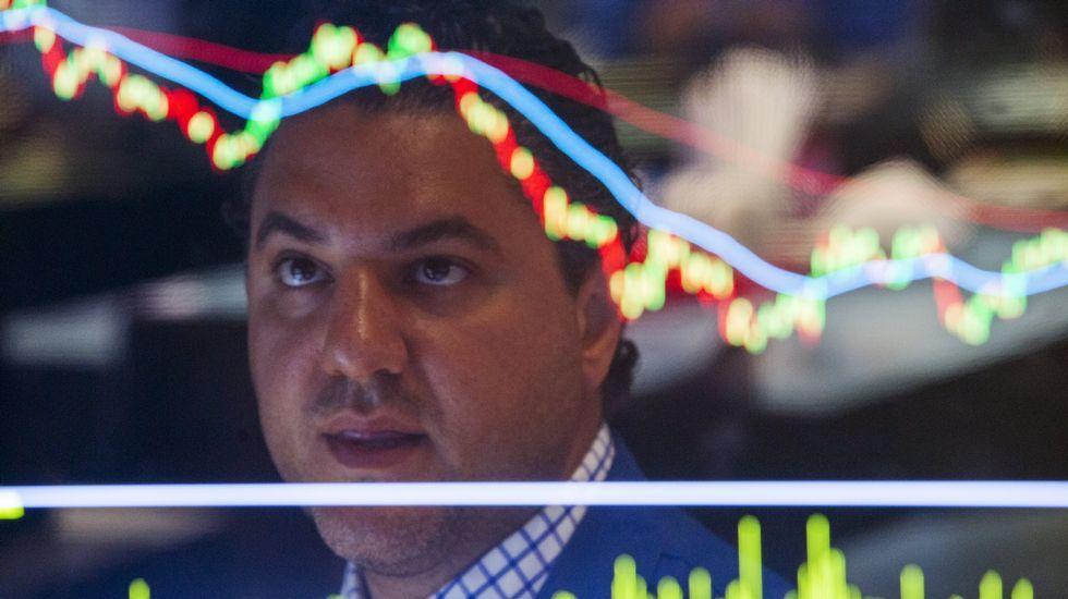 .Un corredor de bolsa, hoy en Wall Street