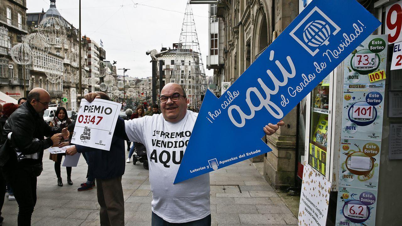 Administración de la Puerta del Sol de Vigo, que vendió un décimo del gordo