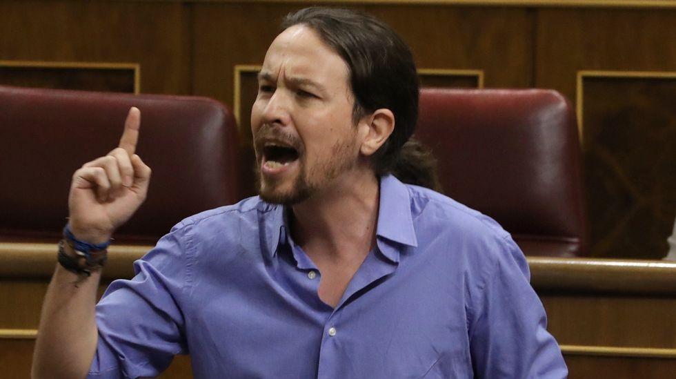 Pablo Iglesias: «Ya está bien que algunos saquen pecho por el terrorismo de Estado».Faustino Blanco