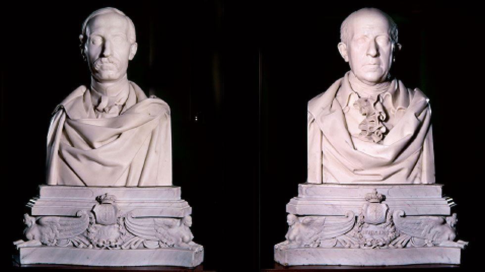 Último adiós al torero Víctor Barrio.Los bustos de Uría y Jovellanos obra de José Gragera