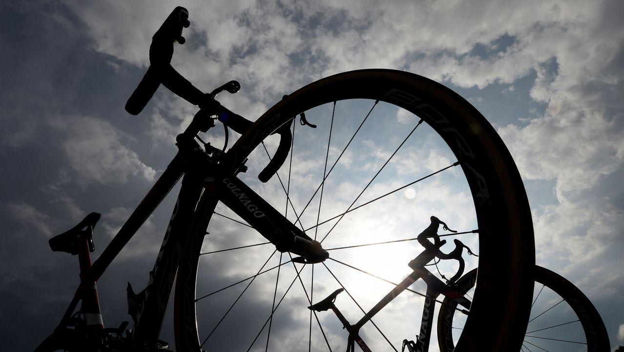 .Bicicletas antes de la undécima etapa de La Vuelta a España
