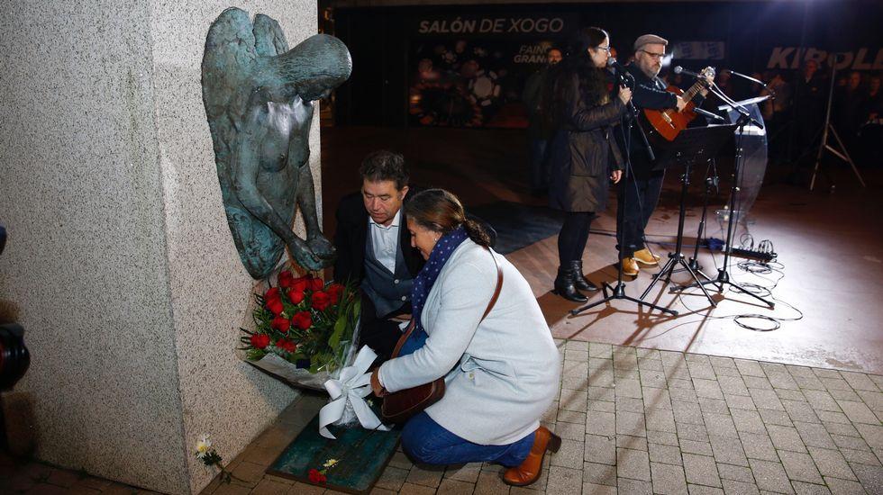 27 fotos para llegar a la familia de una víctima del nazismo.Vázquez y Rivera, juntos hace un mes en A Coruña