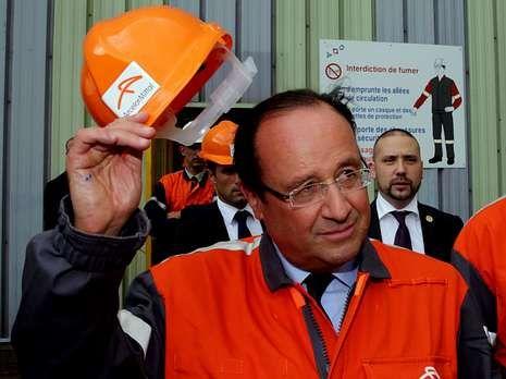 Este es el aspecto de Madrid.Hollande no tuvo la acogida que esperaba.