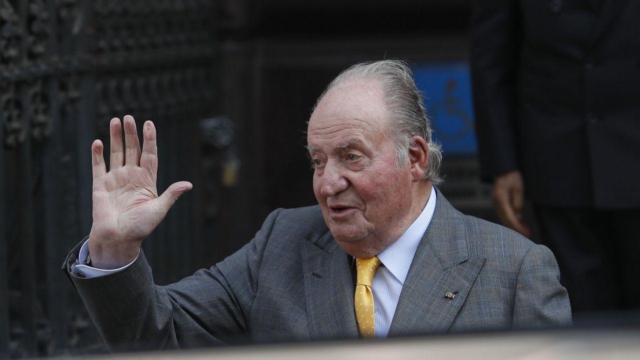 La familia real al completo visita a Juan Carlos I