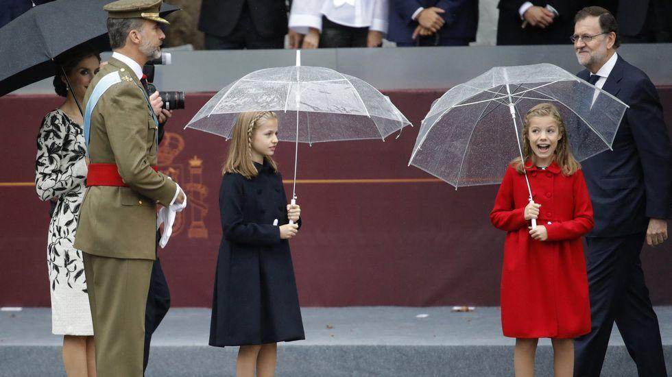 .Durante los actos del 12 de octubre en Madrid.