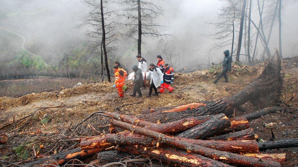 Imagen de archivo de un accidente mortal en una talla, ocurrido en Ribas de Sil en el 2016