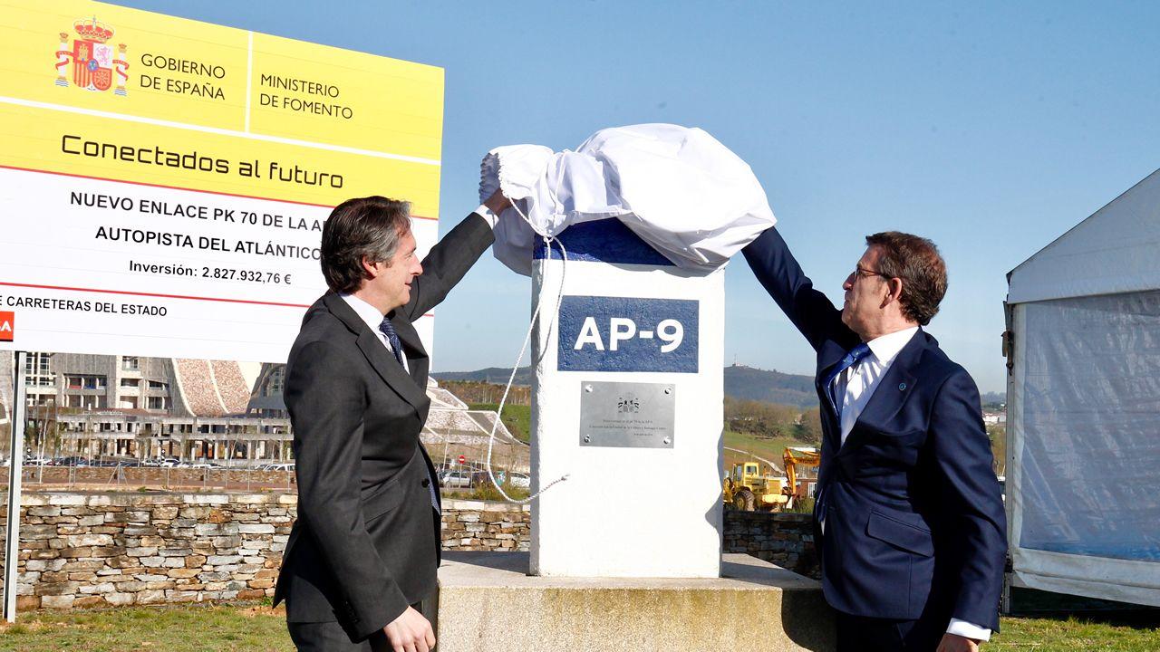Primera piedra del acceso de la AP-9 a la Cidade da Cultura