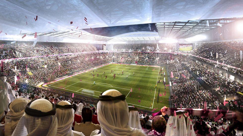 Recreación del estadio Al-Rayyan para el Mundial 2022