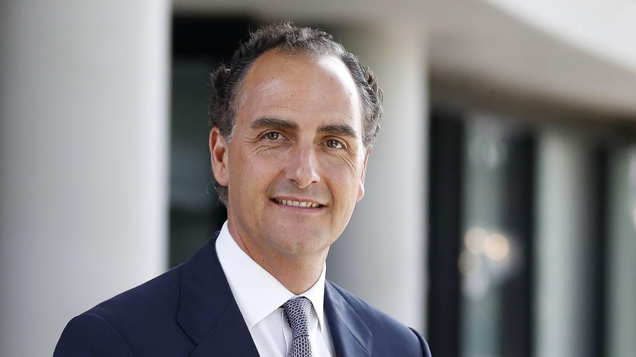 Supermaterial CSIC.Carlos Torres, presidente del BBVA desde enero, y Onur Genç, que lo sustituirá como consejero delegado del grupo