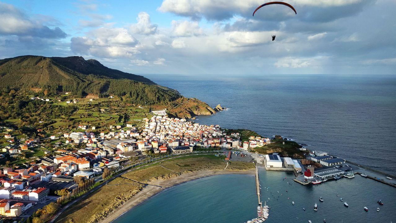 .Vista aérea de Cariño, desde el monte Mazanteo