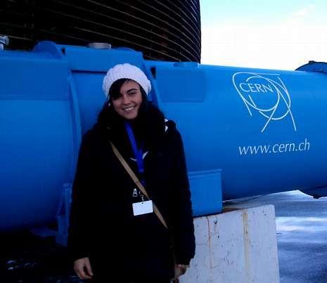Físico 1.Claudia visitó estos días el CERN de Ginebra, en la foto
