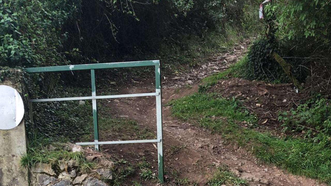 El vídeo viral de una matrona ovetense.Valla cortada en el Naranco