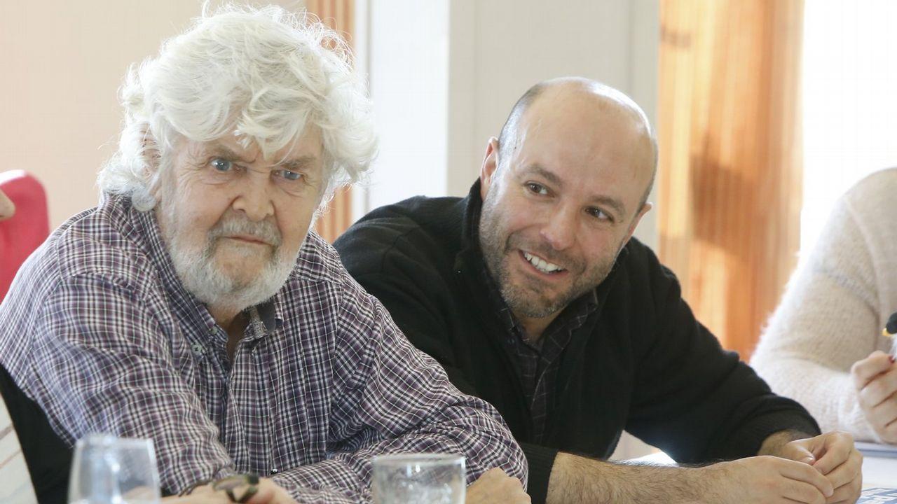 Beiras y Luís Villares, durante una reunión del Consello das Mareas el pasado abril