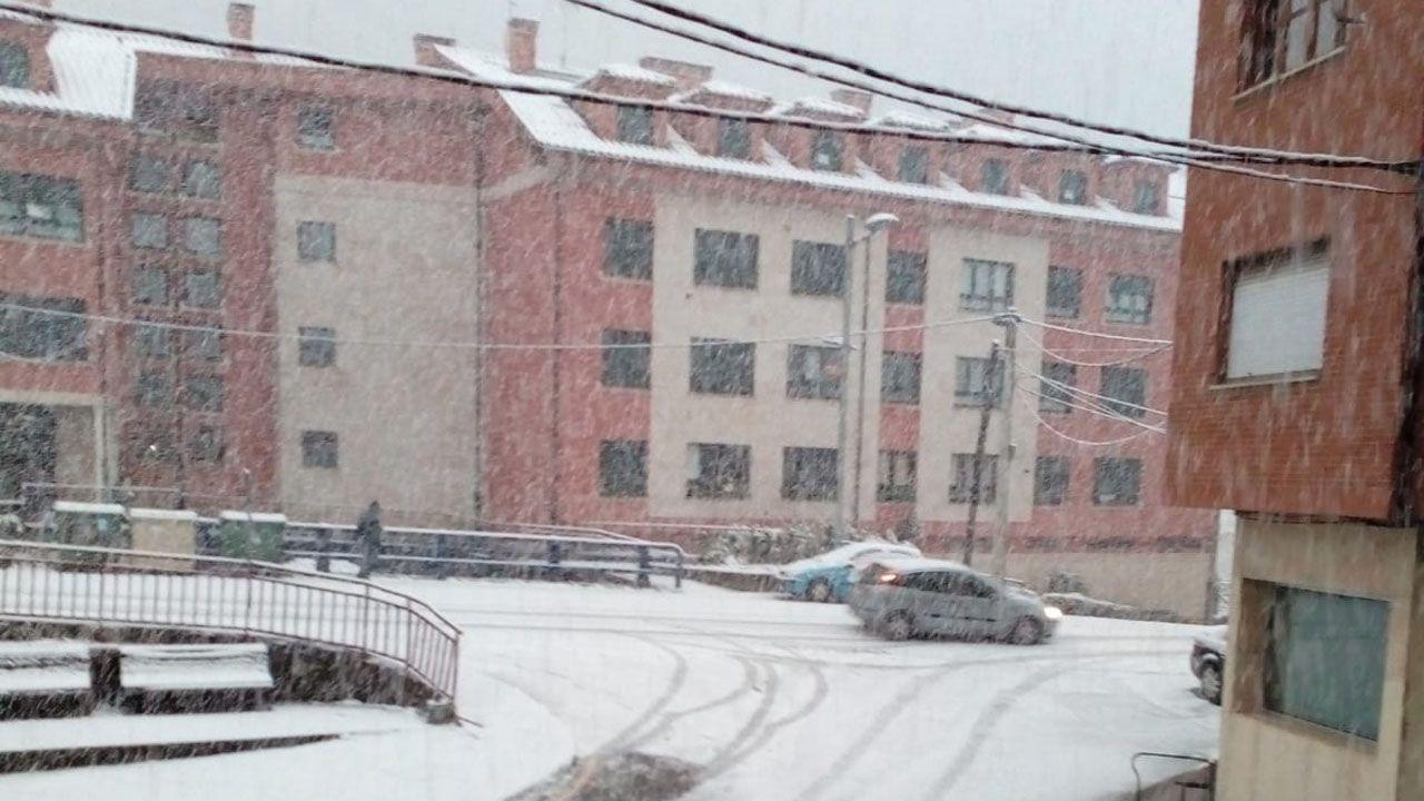 Nevando en La Felechosa