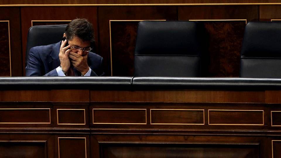 Rafael Catalá durante el pleno del Congreso de este jueves