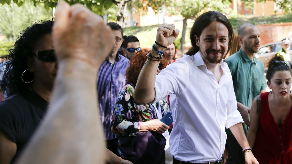 .Pablo Iglesias, tras votar